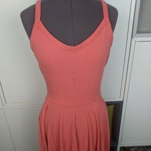Cynthia Rowley melon colored dress